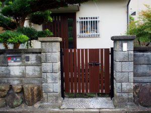 奈良県玄関リフォームルシアス門扉