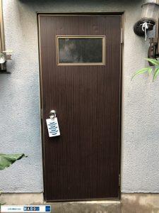 勝手口ドア施工前